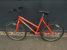 Apollo fluorescent red ladies mountain bike