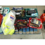 Pallet containing large amount of tools incl. tool bag, battery charger, fluorescent jackets, etc.
