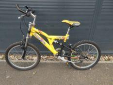 Ammaco yellow kids bike