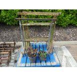 Four metal builder's trestles