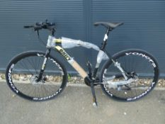 Extreme black and yellow town bike