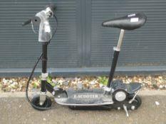 SIlver E-scooter