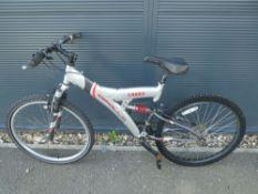 4032 Apollo silver and red mountain bike