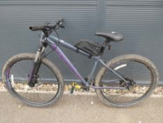 Carrera grey and purple gents mountain bike