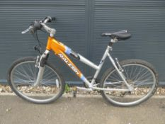 4048 Raleigh orange and silver mountain bike