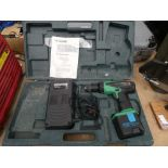 Hitachi battery drill with one battery and charger