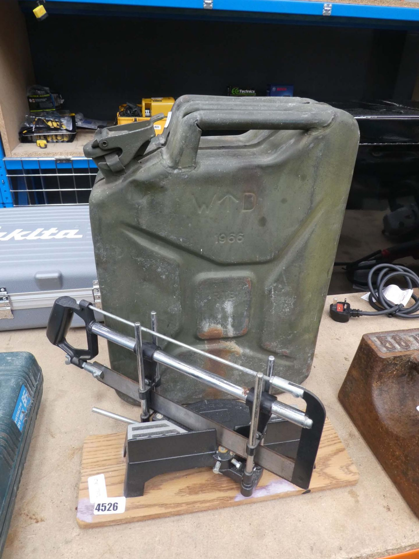 Jerry can and mitre saw