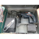 4382 Bosch battery powered hammer drill with 1 battery and charger