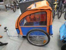 Pull along bike trailer