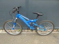 Blue MTNRIDGE suspension mountain bike