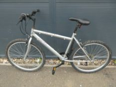 Trax silver mountain bike