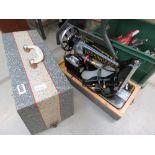 Cased Singer sewing machine