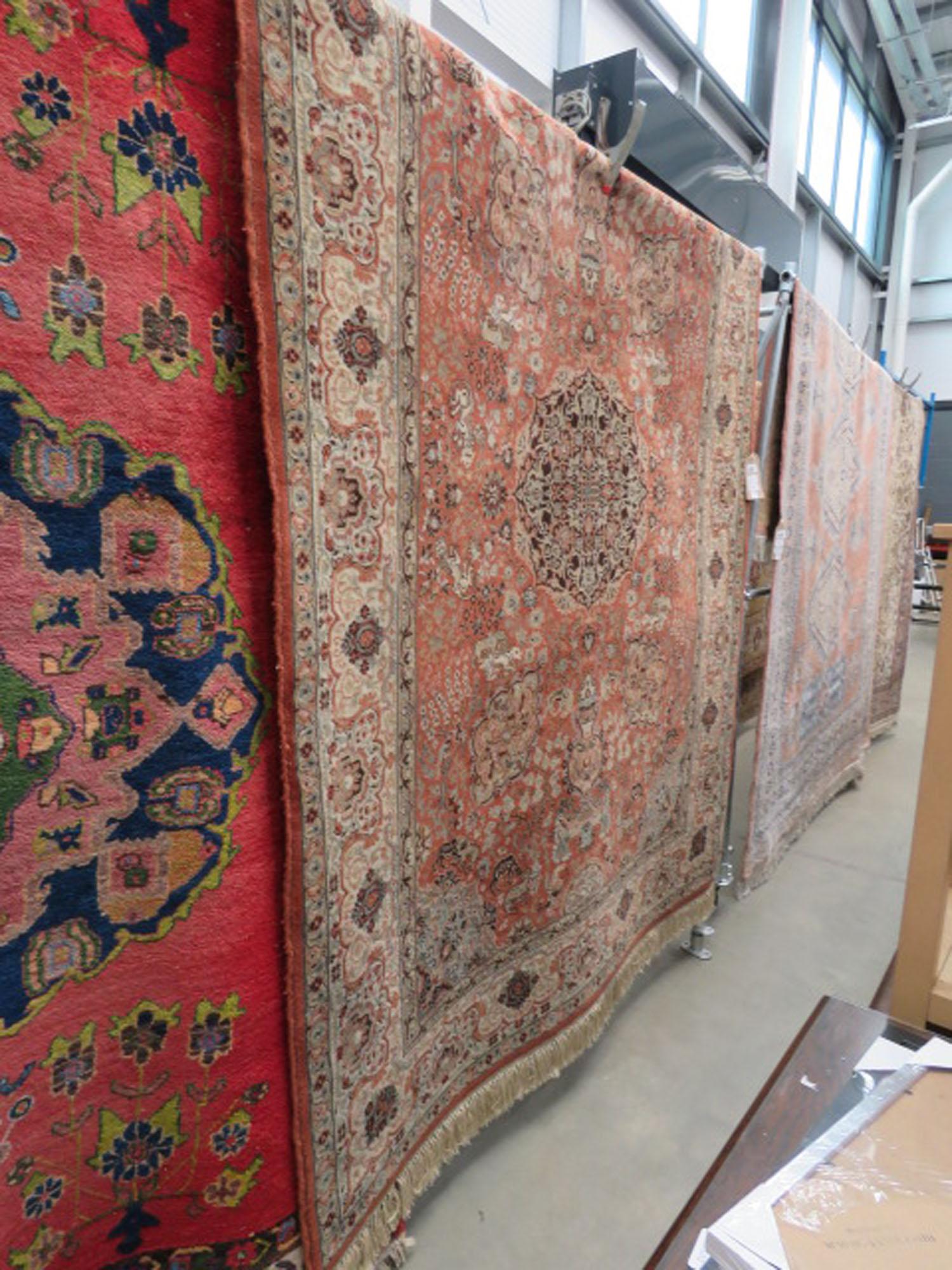 (9) 1.7x2.4m red floral carpet