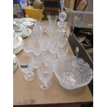Quantity of cut glass and crystal