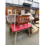 Two melamine and metal kitchen tables