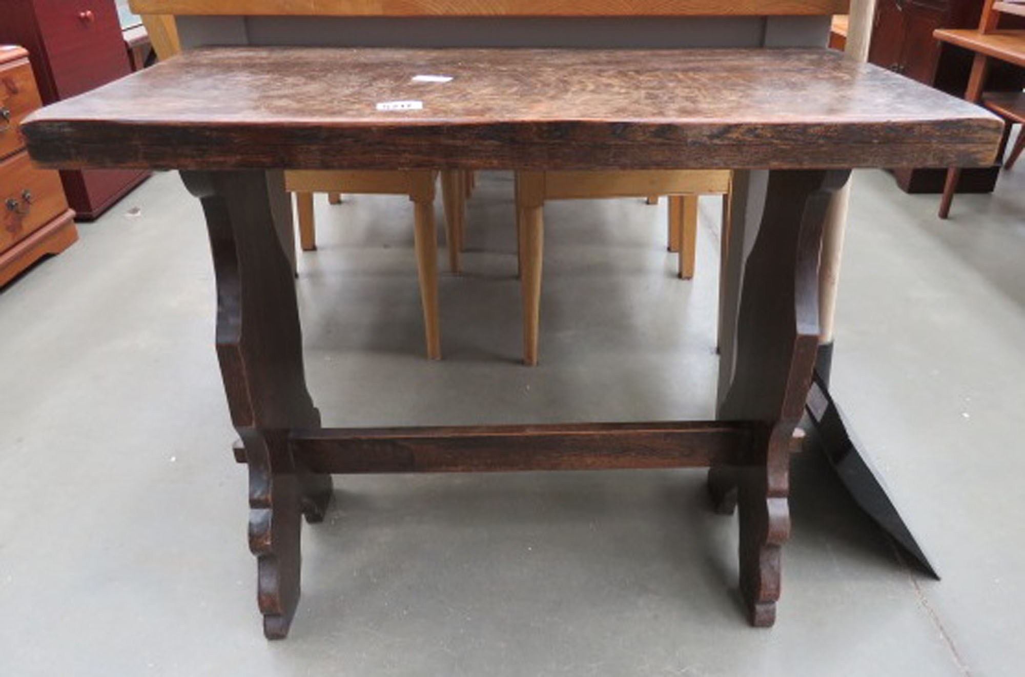 Small oak refectory style table