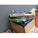 Large box containing board games