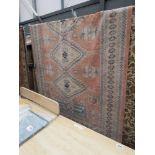 (2) 2x3m pink carpet