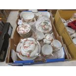 RR 218 - A Chinese Export eggshell porcelain tea service decorated with stylised dragons comprising: