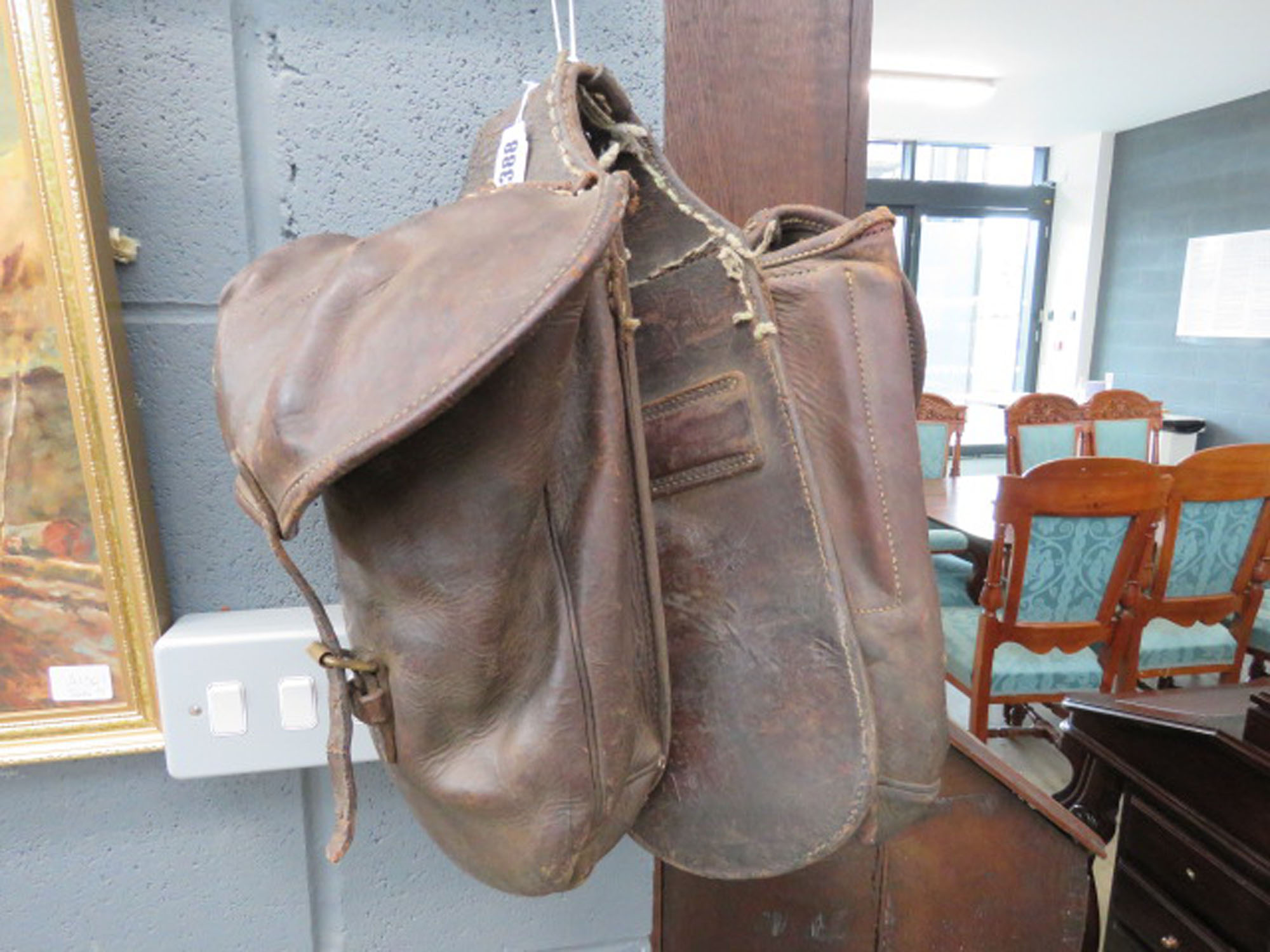 RR 110 - A pair of Moroccan leather saddle bags *Purchased from Liberty of London in 2015