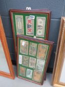 3 wall hangings with banknotes