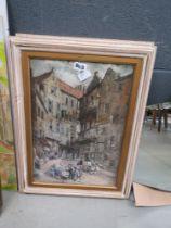 5203 Pair of prints - Tudor townscape