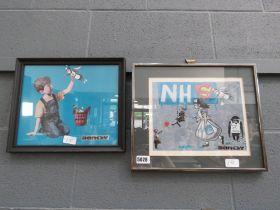 2 Banksy prints