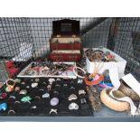 Cage of costume jewellery