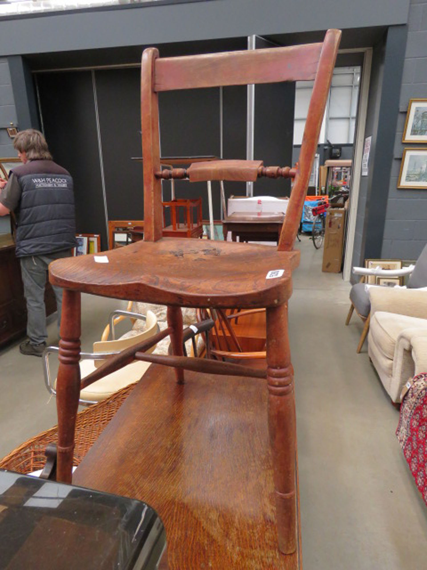 Elm seated Provincial dining chair