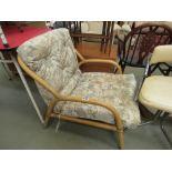 Bent cane conservatory armchair