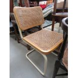 Habitat style chair with wicker seat and back