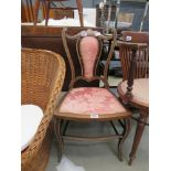 5233 Edwardian inlaid bedroom chair