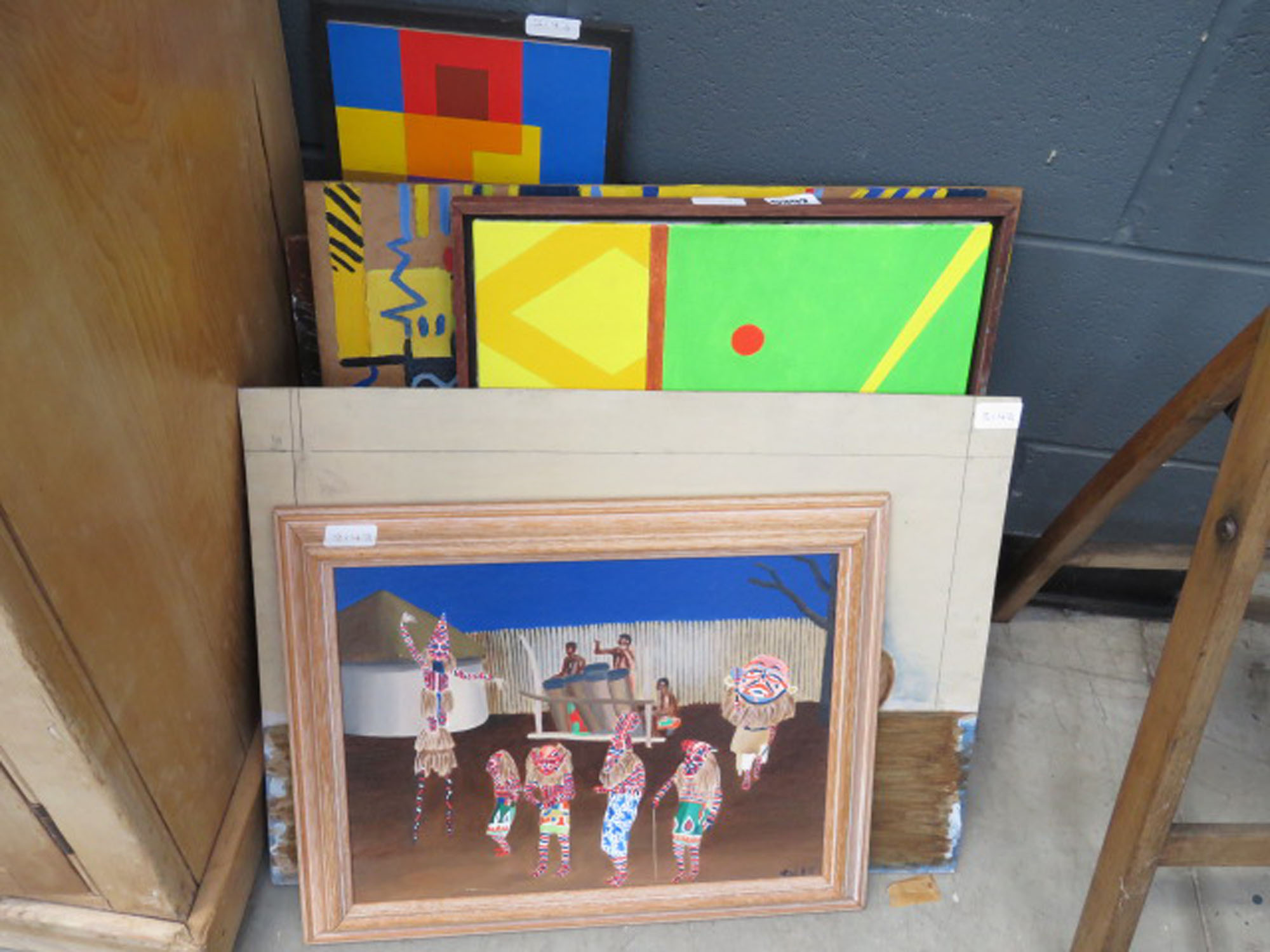 Quantity of Tich Herald abstract and other paintings