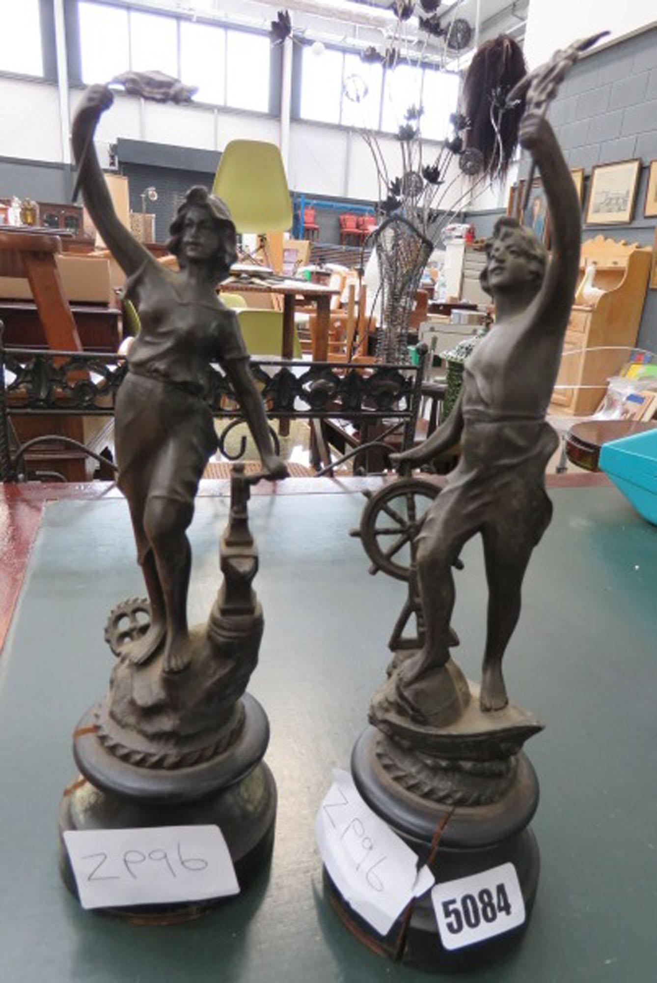 Pair of Spelter figures