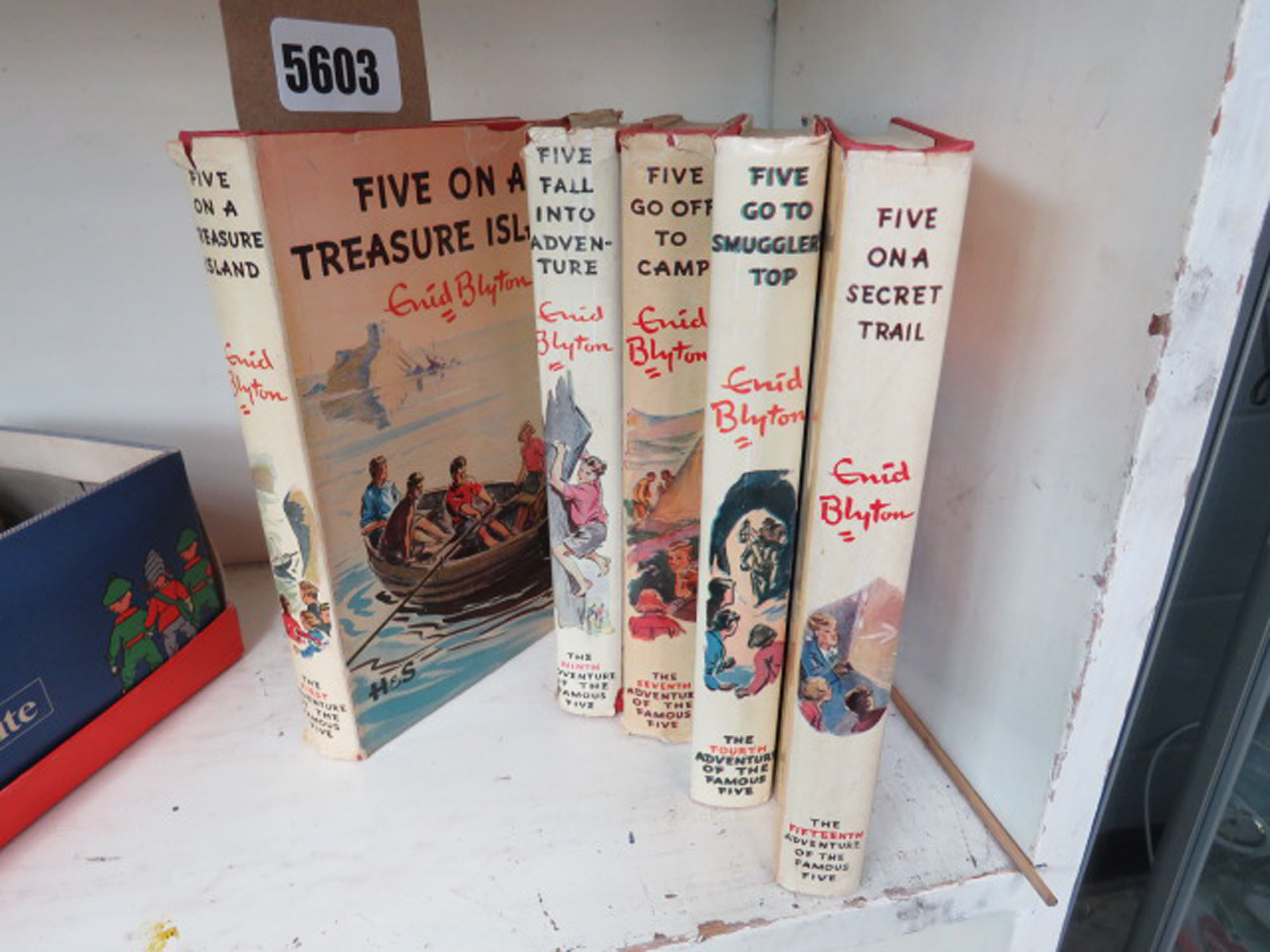 5 volumes of The Famous Five books