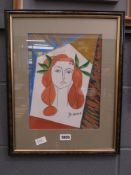Painting of lady after Picasso