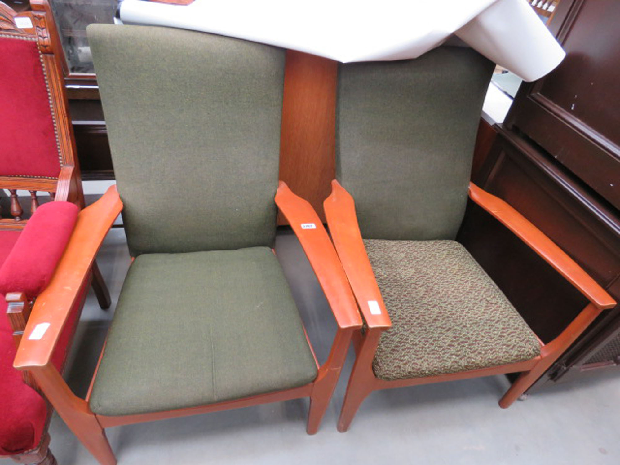 2 Parker Knoll armchairs (collectors items see soft furnishings policy)