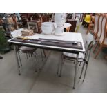 1950's Melamine table plus 4 chairs