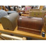 Two cased sewing machines