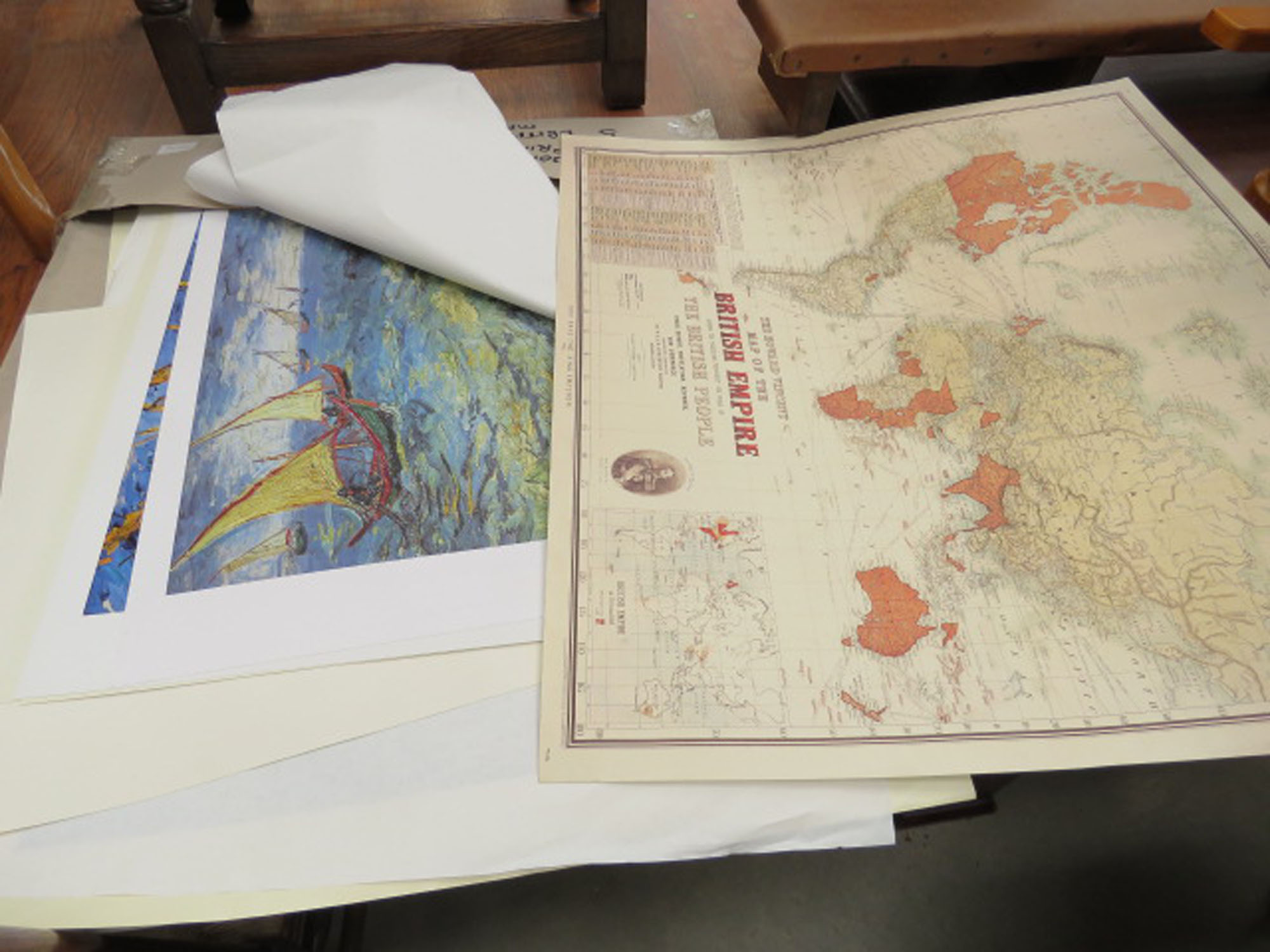 5088 Quantity of assorted prints and British Empire maps