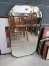 5023 Bevelled mirror plus floral print