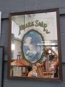 Modern Pears advertising mirror