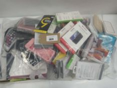 Bag containing quantity of mobile cases and covers