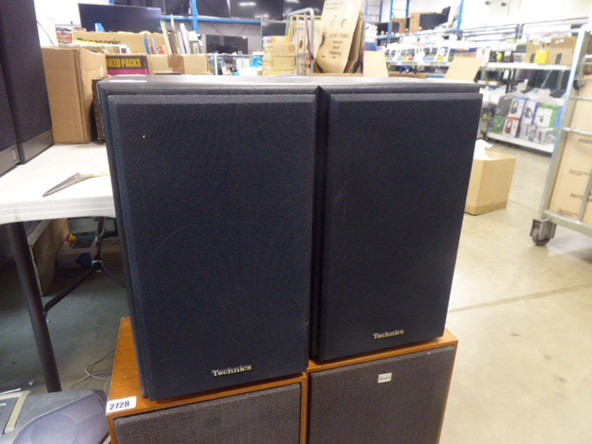 Pair of Technix Model SB-CS5 speakers with covers