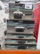 5 x mixed style Berghoff Eurocast Professional series pans incl. grill pan, saucepan, fry pan etc.