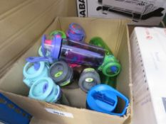 Box containing small quantity of kids drinks bottles