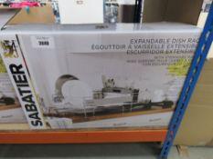 3042 Sabatier expandable dishrack with box