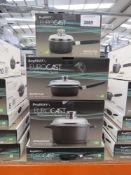 Selection of Berghoff Eurocast Professional series pots incl. stock pot, saute pan, etc.