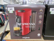 (34) Nespress Virtue Plus magic mix coffee machine with box