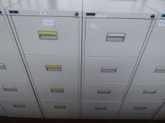 2 Silverline 46cm grey 4 drawer filing cabinets
